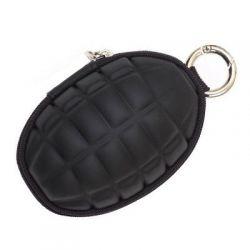 Portfel granat Czarny