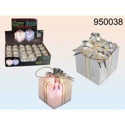 Ozdoba prezent na choinkę LED