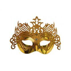 """""""Maska Party z ornamentem, złoty, 1szt."""""""