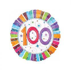 """Balon foliowy 18"""" CIR 100-te urodziny, 1szt"""