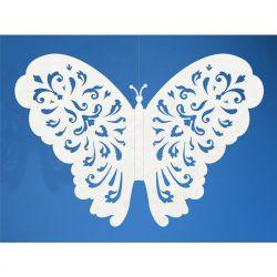 """""""Motylki ozdobne, biały, 14cm, 1op."""""""
