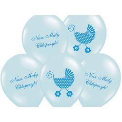 Balony 14 Nasz Mały Chłopczyk, P. Sky Blue, 6sz