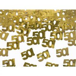 """Konfetti metalizowane, liczba 50, 15g, 1op."""""""