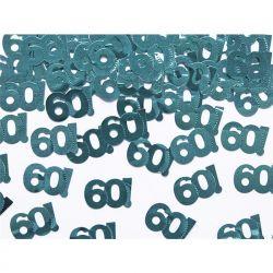 """Konfetti metalizowane, liczba 60, 15g, 1op."""""""