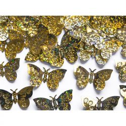 Konfetti holograficzne Motyle, złoty, 15g, 1op.