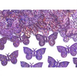 Konfetti holograficzne Motyle, j. różowy, 1op.