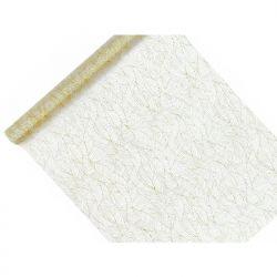 Organza z nadrukiem, biały, 0,48 x 9m, 1szt.