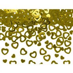 Konfetti metalizowane Serca, złoty, 15g, 1op.
