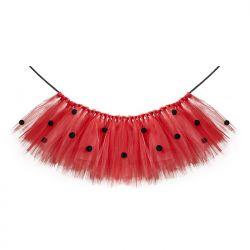 Tutu Biedronka, czerwony, 60 x 30cm, 1szt.