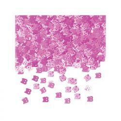 Konfetti metalizowane, liczba 18, różowy, 1 op