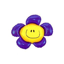 Balon foliowy 36 SHP Kwiatek, fioletowy, 1szt.