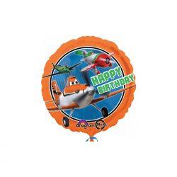 Balon foliowy 17 CIR Happy B-day Planes, 1szt.