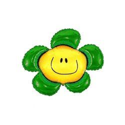 Balon foliowy 36 SHP Kwiatek, zielony, 1szt.