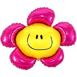 """Balon foliowy 36"""" SHP Kwiatek, różowy, 1szt."""