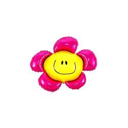 """Balon foliowy 14"""" SHP Kwiatek, różowy, 1szt"""
