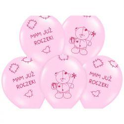 Balony 14 Miś - mam już..., Pastel Pink, 50szt.