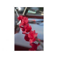 Girlandy bibułowe Kwiaty, czerwony, 2m, 1op.