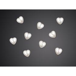 """Aplikacja akrylowa Serce, perłowy, 8mm, 1op."""""""