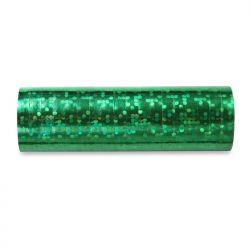 Serpentyny holograficzne, zielony, 3,8m, 1op.