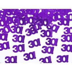 Konfetti metalizowane, liczba 30, 15g URODZINY