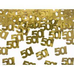 Konfetti metalizowane, liczba 50, 15g URODZINY