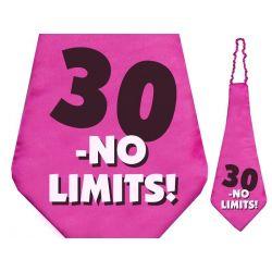 Krawat 30 - no limits!, 59cm, 1szt.  URODZINY