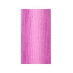 1 Tiul gładki, różowy, 0,15 x 9m, 1szt.