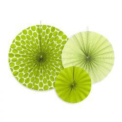 Rozety dekoracyjne, zielone jabłuszko, 1op.