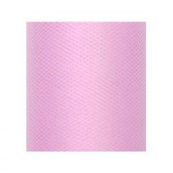 Tiul gładki, j. różowy, 0,3 x 50m, 1szt.