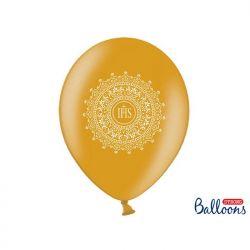 Balony 30cm, IHS, Metallic Gold, 6szt.