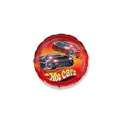 Balon foliowy 18 CIR Samochody Hot Cars, 1szt.