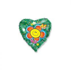 Balon foliowy 18 HRT Uśmiechnięty kwiatek, 1szt