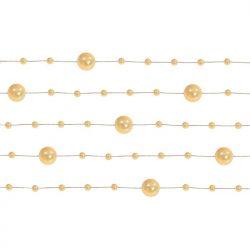 Girlandy perłowe, pastelowe złoto, 1,3m, 1op.