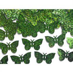 Konfetti holograficzne Motyle, zielony, 15g, 1op.