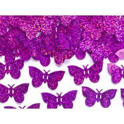 Konfetti holograficzne Motyle, różowy, 15g, 1op.