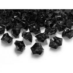 """Kryształowy lód, czarny, 25 x 21mm, 1op."""""""