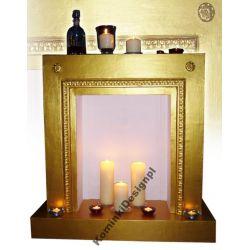 Złoty Kominek z przeznaczeniem na świeczki