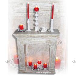 Portal Kominkowy dekoracyjny na Świeczki