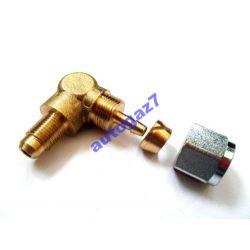 FARO złącze kątowe nypel 90  M10 / fi8 PCV przewód