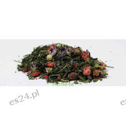 Herbata zielona aromatyzowana Poziomkowa