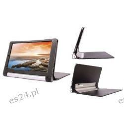 Supremery - Lenovo IdeaPad Yoga Tablet (10 Zoll HD) und Lenovo Yoga 10 HD+ Leder Tasche Case Lederetui Sleeve Cover Schutzhülle in Schwarz mit Standfunktion und automatischer Sleep und Wa