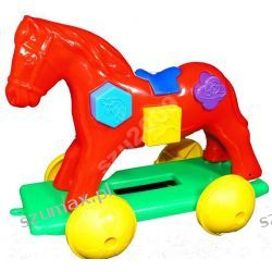 koń konik układanka edukacyjna ciagacz