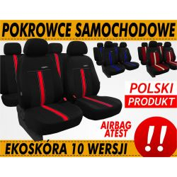 Pokrowce samochodowe na fotele SKÓRZANE EKO SKÓRA