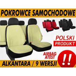 MOCNE Pokrowce samochodowe ALKANTARA AIRBAG KPL