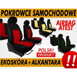 POKROWCE SAMOCHODOWE MOCNE ALKANTARA EKO SKÓRA KPL