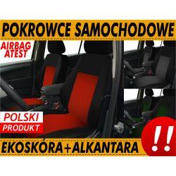 MOCNE POKROWCE SKÓRZANE UNIWERSALNE ALKANTARA KPL