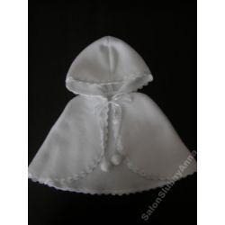 Ciepła pelerynka ubranko do chrztu polar śliczna01