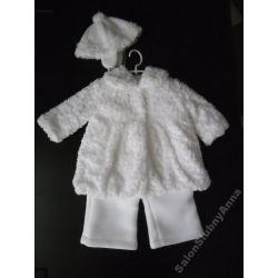 WYJĄTKOWE Ciepłe ubranko do chrztu 74 D9B kpl HIT!