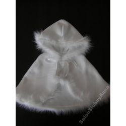 Ciepła pelerynka ubranko do chrztu polar śliczna02