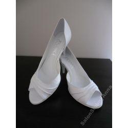 Ekskluzywne buty ślubne białe skóra 40 Kol. 2014